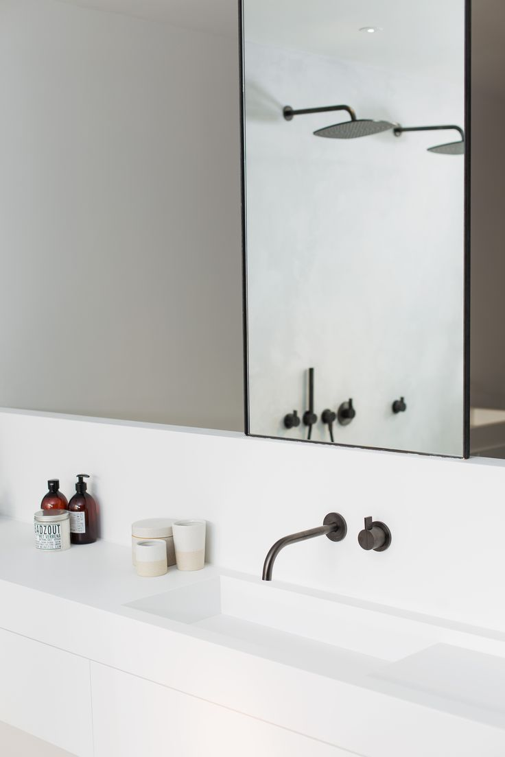 "Get Minimal with our Piet Boon ""Minimal"" bathroom cabinet and our Piet Boon ""Gunmetal Black"" design taps by COCOON. Available via bycocoon.com 