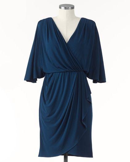 Fluid wrap dress