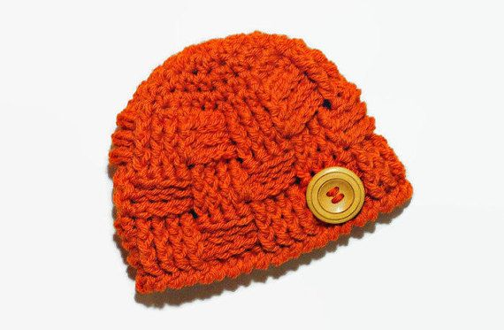 Crochet Newborn Boy Hat Basket Weave Baby Boy by DeesCozyCreations