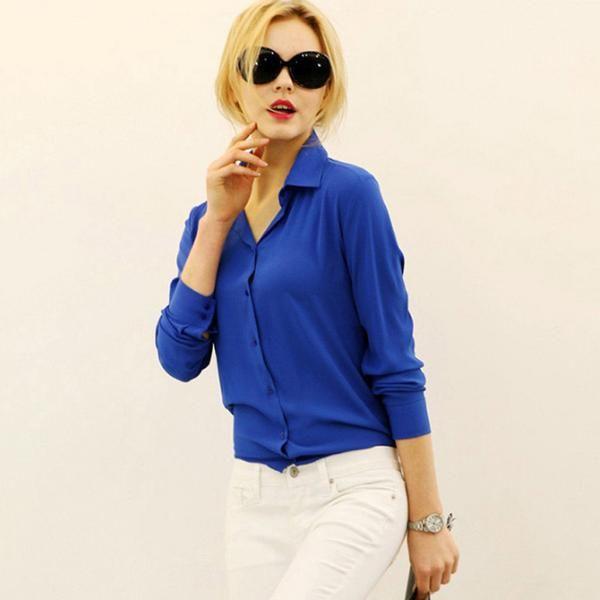 HASKARA women's work wear Polo Shirts Blusas Femininas tops elegant ladies formal office Polo Shirts large size XXL