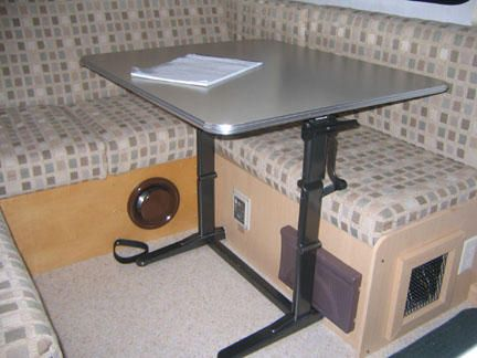 Moving The Table Classic Campers Tab Trailer Camper