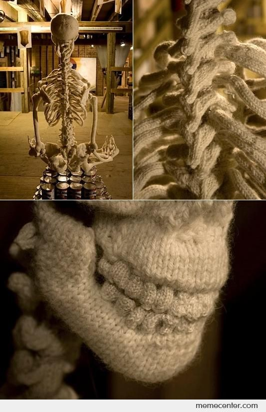 knitting memes | Amazing Knit Skeleton - Meme Center