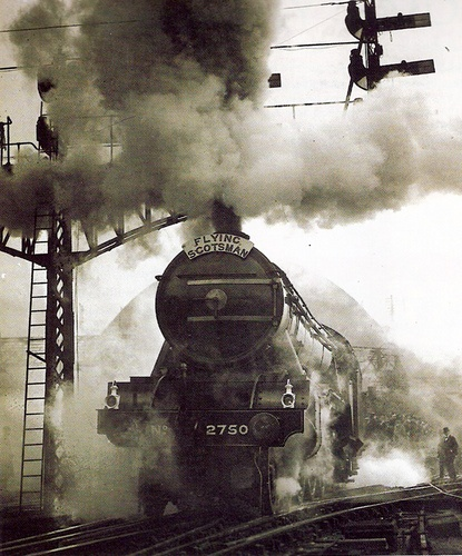 The Flying Scotsman in the 50's.  Mum moved to Scotland on this train in the 1940's