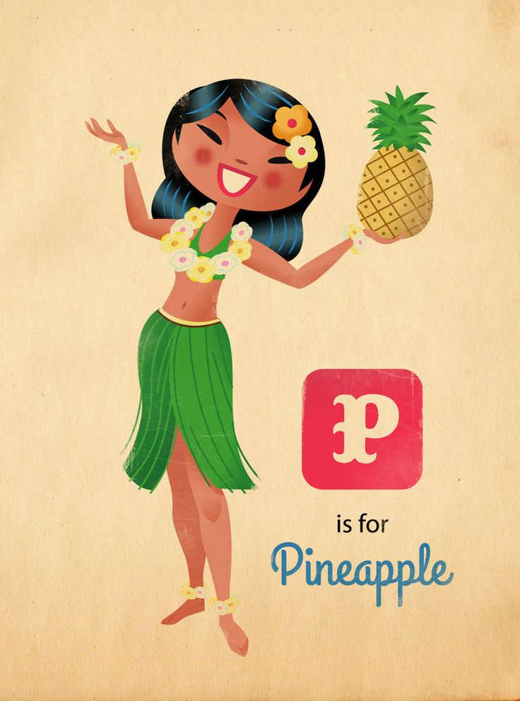 Russell Tate 'P for Pineapple' Print - The Loop Shop – THE LOOP SHOP