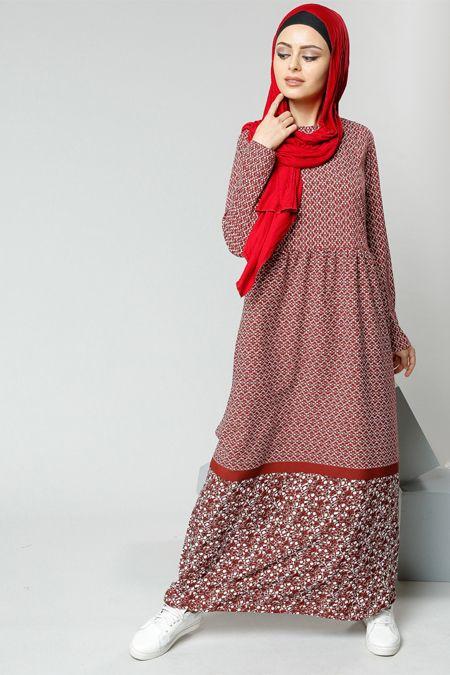 Refka Bordo Desenli Elbise 99.90 TL http://alisveris.yesiltopuklar.com/refka-bordo-desenli-elbise-3.html