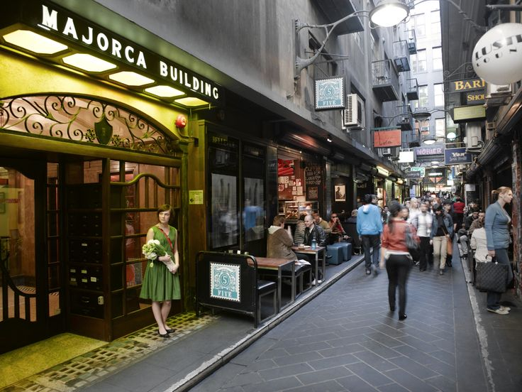 One of Melbourne's thriving laneways