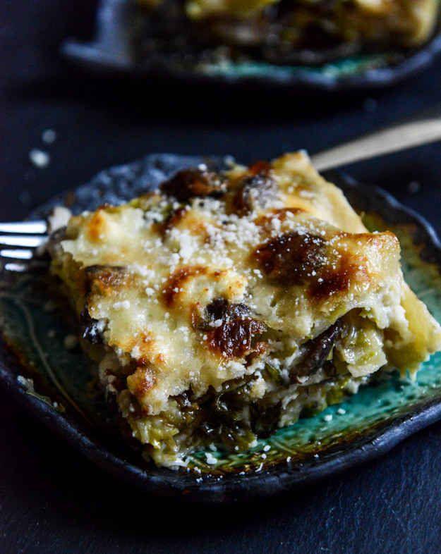 Rosenkohl-Lasagne mit viel Käse