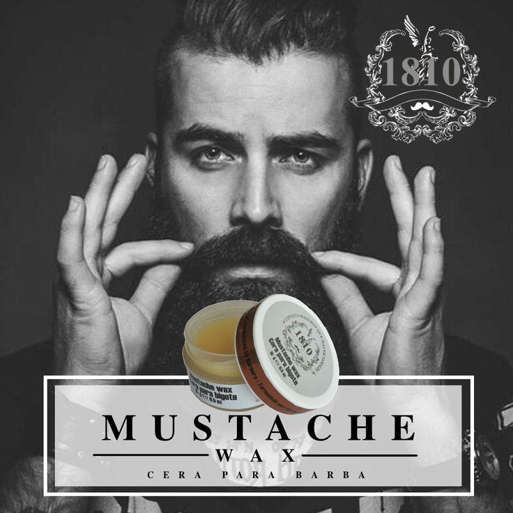 Dale un estilo único a tu barba con nuestro Mustache Wax. www.1810.com.mx