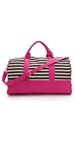 magenta + stripes? sold // weekender bag