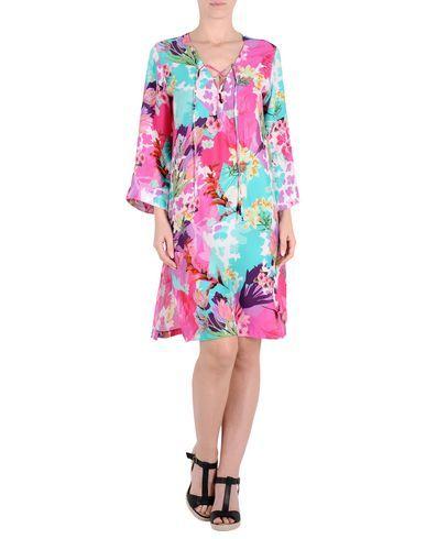 ¡Cómpralo ya!. BLUMARINE BEACHWEAR Vestido de playa mujer. crepé, cinturón, estampado multicolor, interior sin forro, sin bolsillo , vestidoinformal, casual, informales, informal, day, kleidcasual, vestidoinformal, robeinformelle, vestitoinformale, día. Vestido informal  de mujer color rosa de BLUMARINE BEACHWEAR.