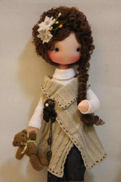 boneca de feltro..linda..