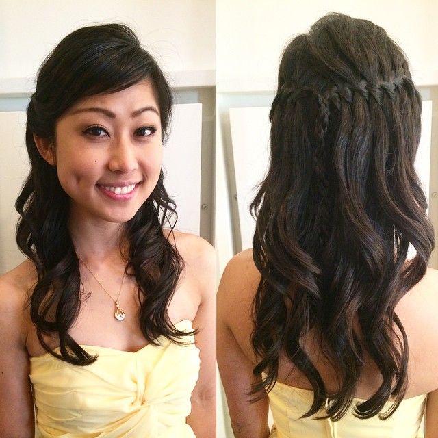 Styling #bridesmaid #bridalupdo #bridalhair #weddingday #weddinghair #weddingupdo #bridalhalfup #waterfallbraid #braids #halfupdo #curls #curlingiron #asianhair #vancity #vancouver #vancitylife #vancouverite #vancouverhair #vancouverlife #vancouverbride #vancouverbridal #vancouverstylist #vancouverisawesome #hair #hairstyling #picoftheday #imissthisgirlsomuch