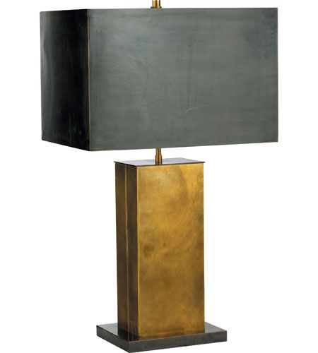 Visual comfort tob3033hab bz bz thomas obrien dixon 31 inch 60 watt antique brass with bronze decorative table lamp portable light in none hand rubbed