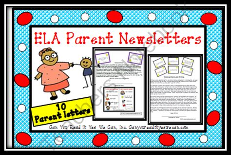 Can You Read It Giveaway - ELA Common Core Aligned Parent Newsletters.  A GIVEAWAY promotion for ELA Parent Newsletters from Can You Read It on TeachersNotebook.com (ends on 1-6-2014)