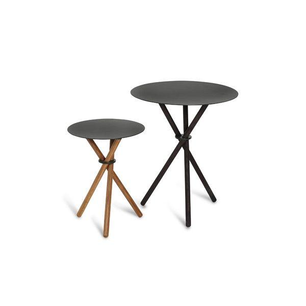 EH 9 - Stool or Side Table and EH 10 - Side Table. #table #sidetable #steel #steeltable #oak #oaklegs #stool #chair #danishdesign #eberhartfurniture
