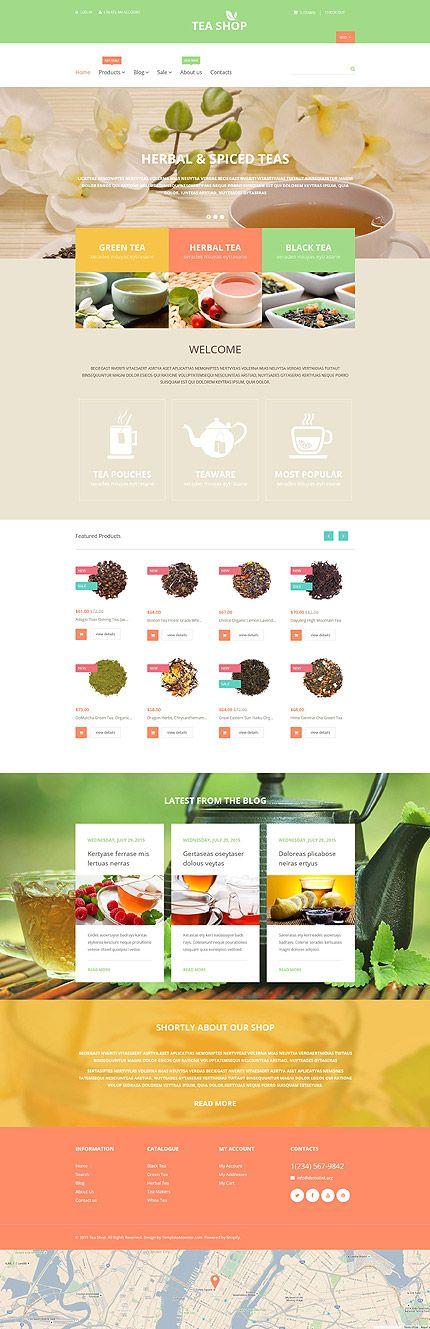 Premium Tea Online Store #Shopify #template. #themes #business #responsive #webshop #Shopifythemes