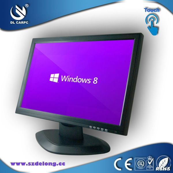 Best Seller Black 19 inch Wide Screen Touch LCD Monitor Computer Monitor LCD Touch Screen 19