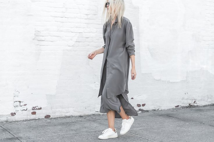 TF X FIGTNY | SPRING 16 COLLABORATION RELAXED SHIRT DRESS #thirdform #figtny #minimal #urban #streetstyle #fashion #trend #clean #dove #grey
