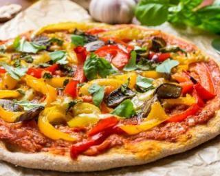 Pizza diététique aux restes de légumes