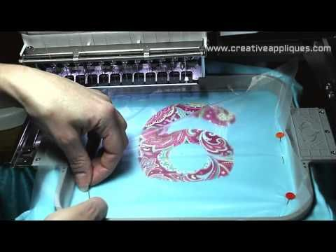 How to machine embroidery applique WATCH THIS video  then REPIN IT www.creativeappliques.com Creative Appliques - YouTube