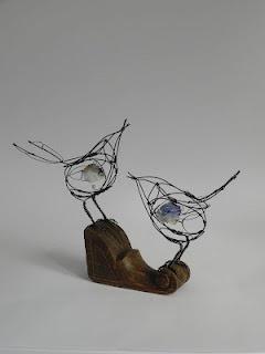 see saw songbirds - wire birds from Jill Walker