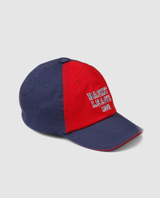 Gorra de bebé niño Freestyle en rojo y azul marino  3a666aeb7e7