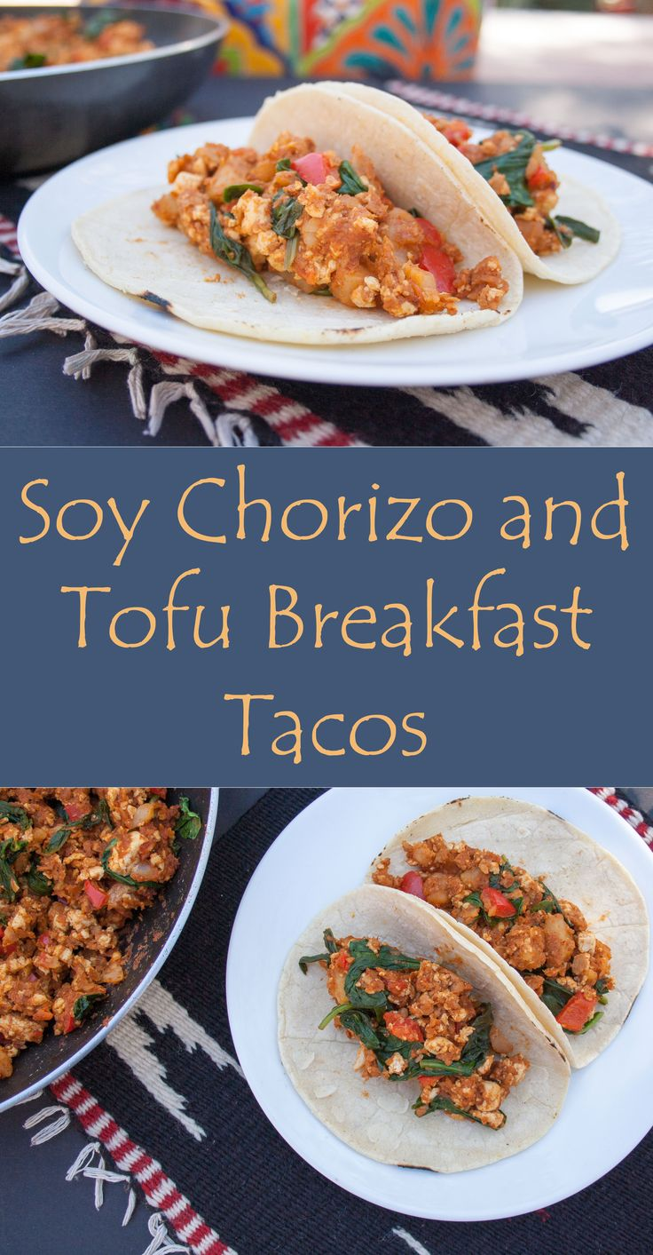 Soy Chorizo and Tofu Breakfast Tacos - This vegan breakfast is a perfect hot meal for these cold Winter days.