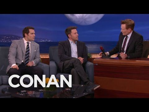 Ben Affleck & Henry Cavill's Reactions To Being Cast As Batman & Superman - CONAN on TBS - YouTube