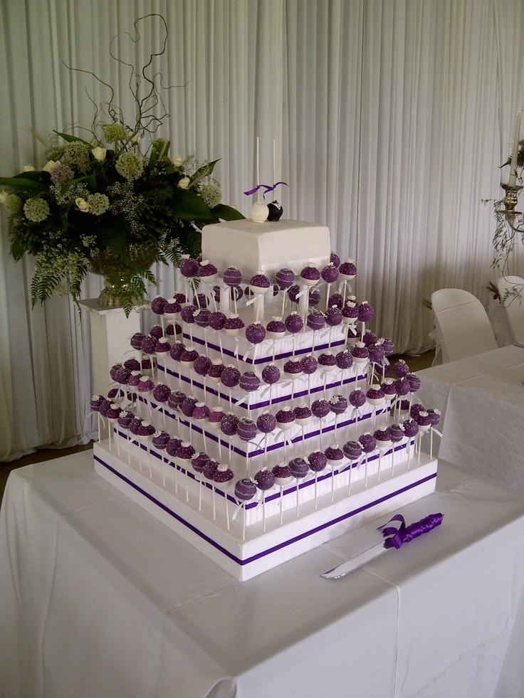 Purple and white Wedding cakepops #cakepops #wedding #purple #cake