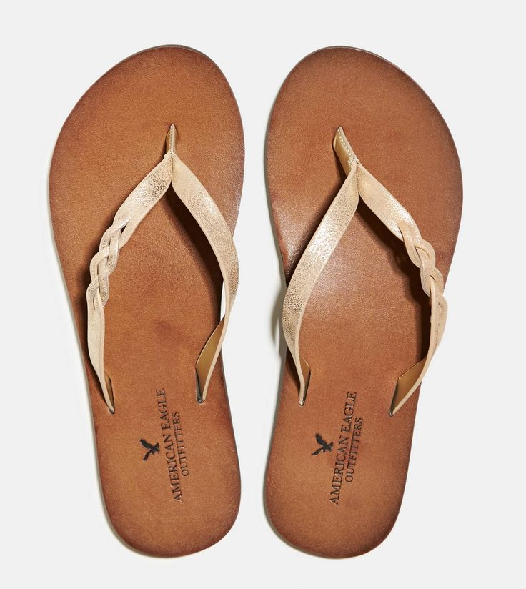 Gold Flip flops.  Love American Eagle flip flops - my last pair lasted 3 years!