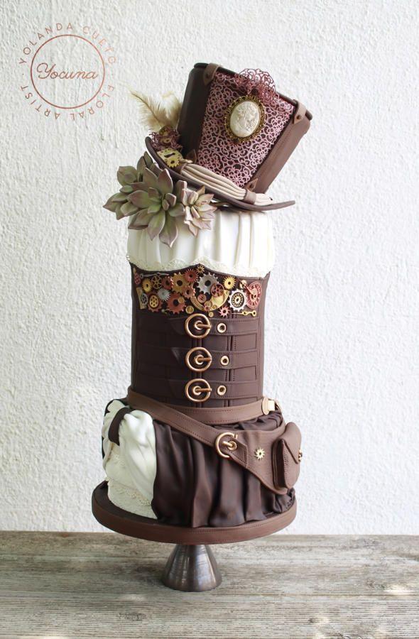 Steampunk Cake By Yolanda Cueto Yocuna Floral Artist