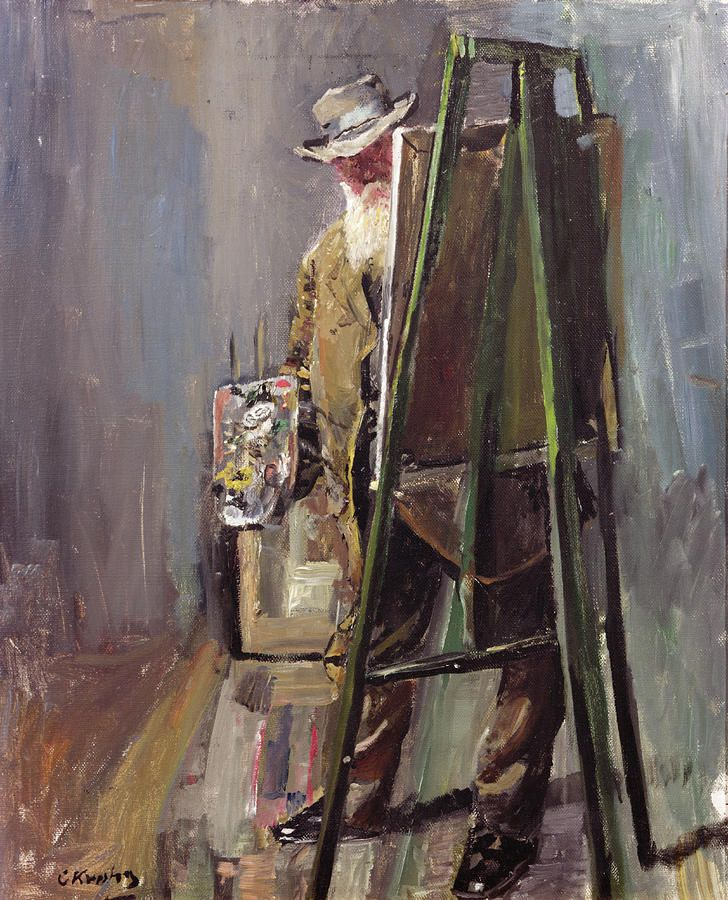 Christian Krohg - Self Portrait
