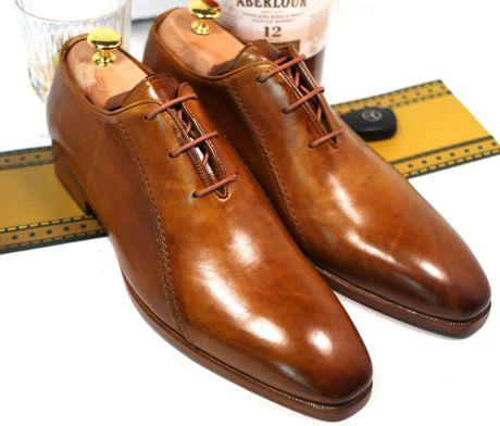 Classic Handmade Luxury (Fulham Palace) - Oscar William British Handcrafted  Dress Elegant Men's Shoes Italian Calfskin Leather
