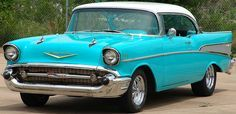 1957 Chevy Bel Air in turquoise. My ultimate dream car.