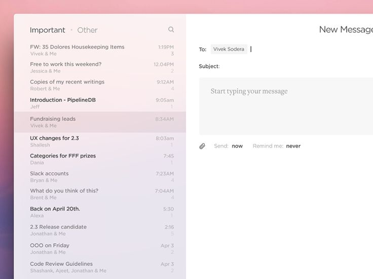 We're working with Superhuman, a group of super smart people, to redesign how we use email.   More coming soon but here you can see a sneak peek at some of the early work in progress.  Superhuman i...