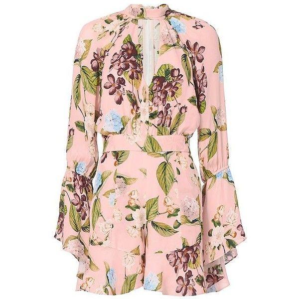 fa4b0d621ddb Nicholas Evie Floral Bell Sleeve Romper (2