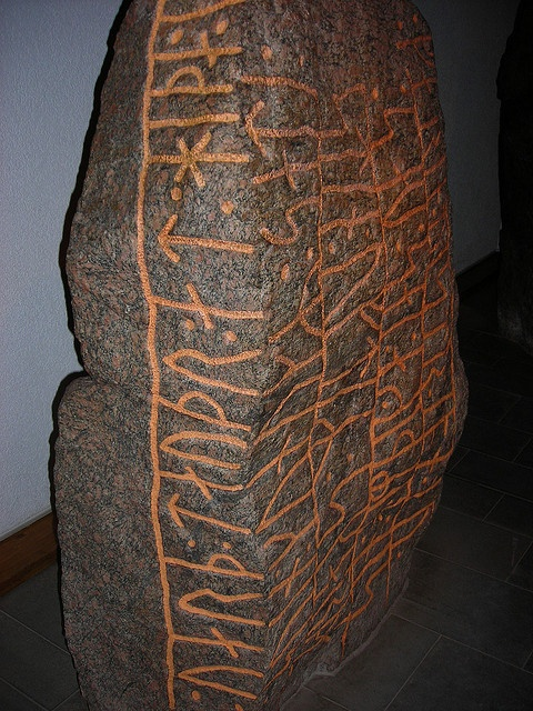 Runestone in Hedeby Viking Museum by rwhgould, via Flickr