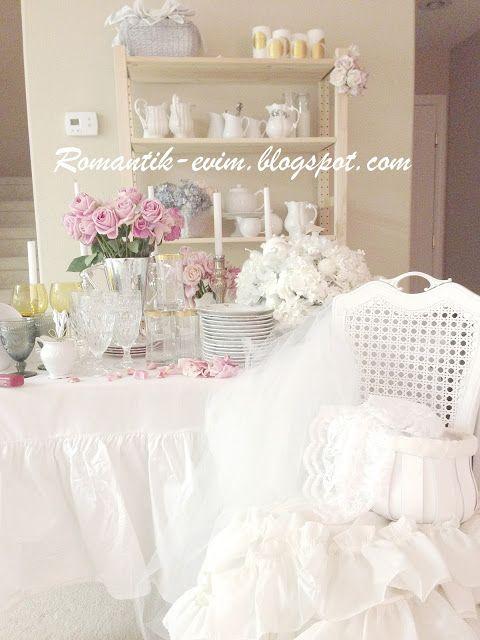 http://romantik-evim.blogspot.comShabby Chic Homes, Dining Room, Shabby Chicks, Blog Shabby Chic, Winter Wonderland, Chic Blog Shabby, Ambiance Shabby, Shabbychic, Blog Romantic Shabby