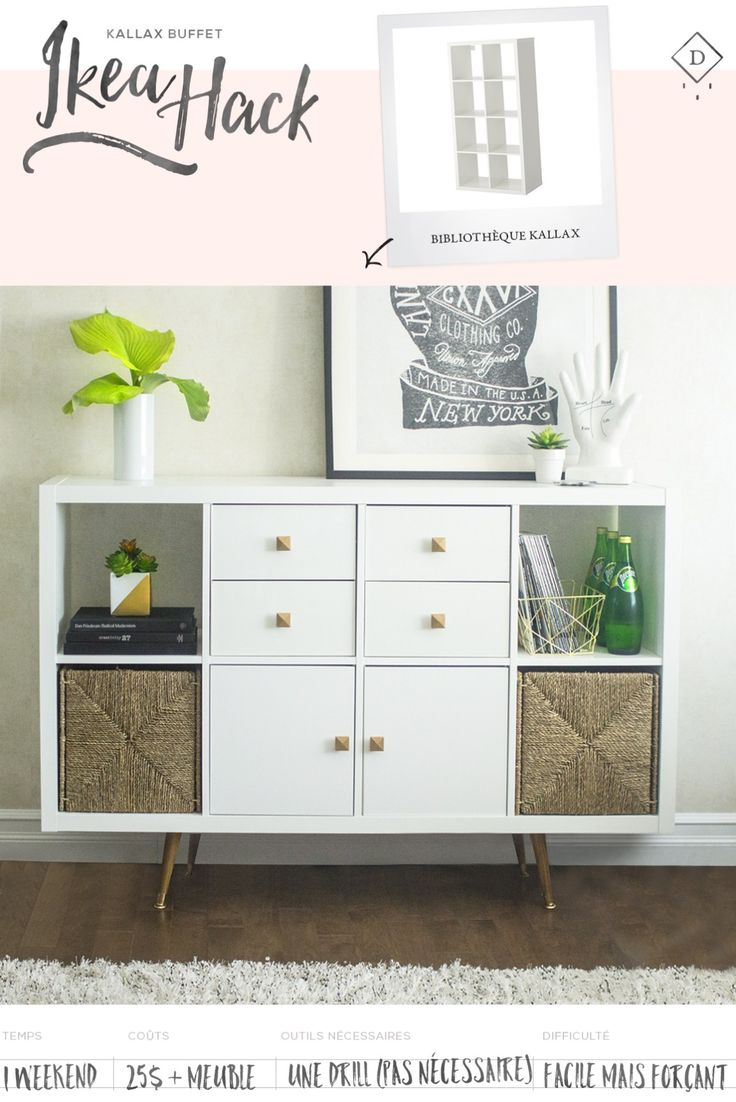 Buffet table furniture ikea - Kallax Ikea Hack Du Petit Doux