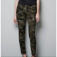 Calça militar camuflada feminina - Linda!