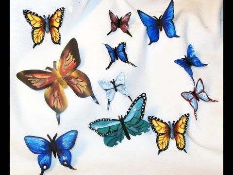 Como hacer una mariposa con lata de refresco youtube - Youtube manualidades para el hogar ...