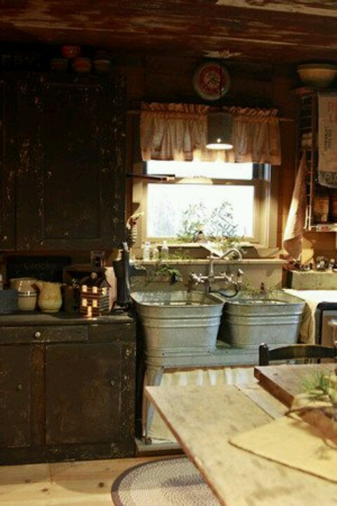 186 best images about country primitive kitchens on for Country outdoor kitchen