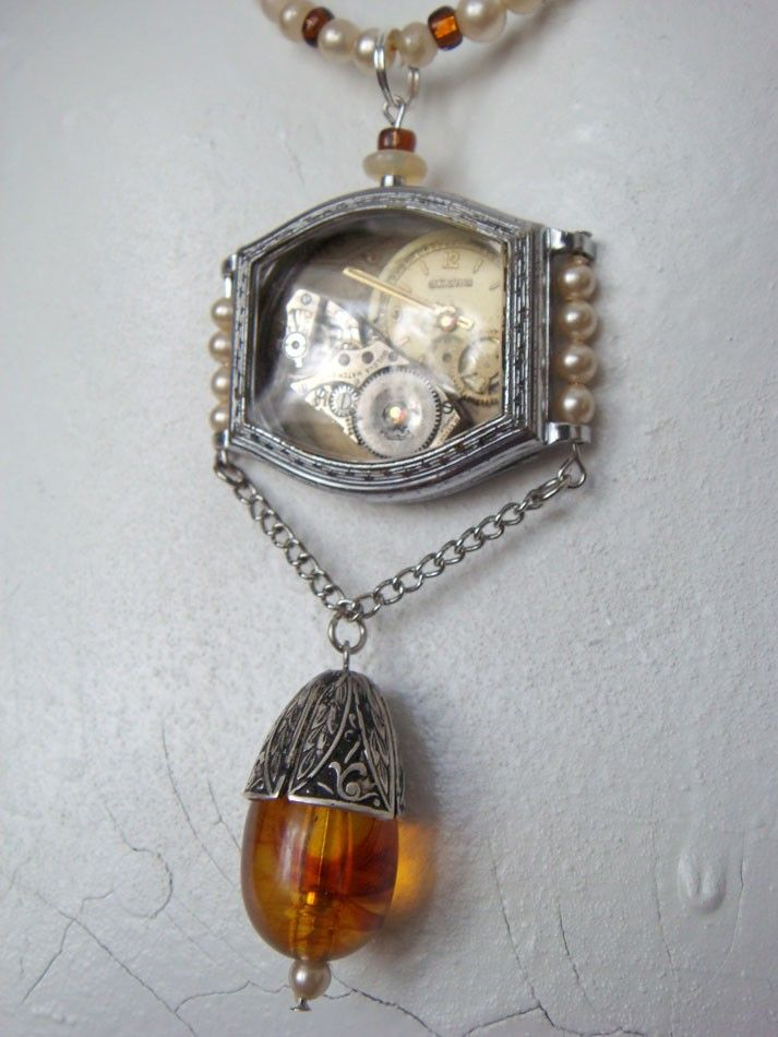 Yesterday - Upcycled Vintage Watch Necklace.