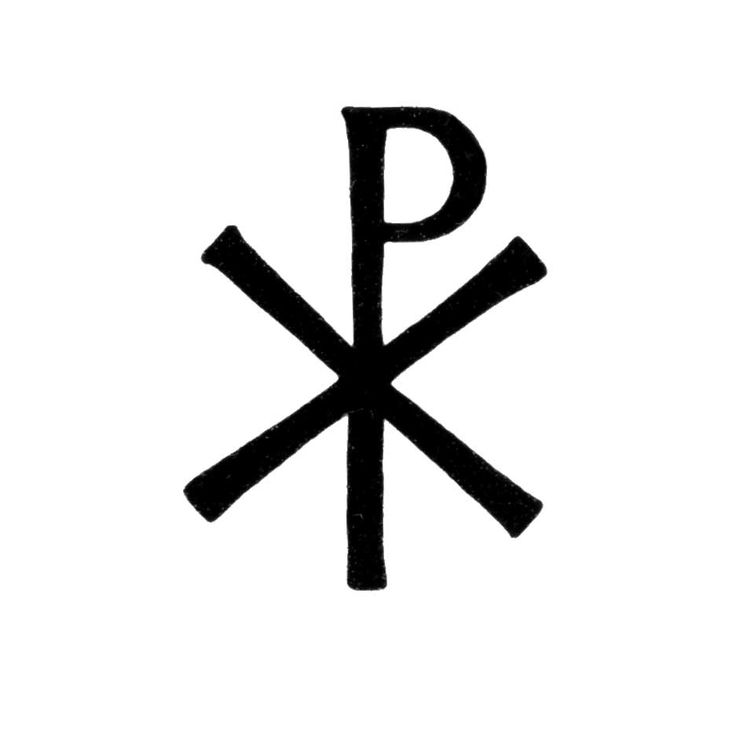 "The Chi Rho is one of the earliest forms of christogram, and is used by Christians. It is formed by superimposing the first two letters in the Greek spelling of the word Christ ( Greek : ""Χριστός"" ), chi = ch and rho = r"