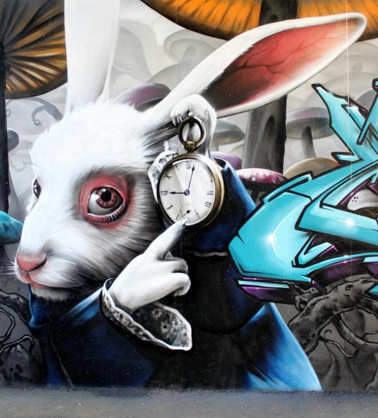 Alice in Wonderland graffiti art