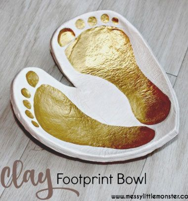 DIY Clay footprint bowl keepsake // Szív alakú só-liszt gyurma tálka láblenyomatokkal // Mindy - craft tutorial collection // #crafts #DIY #craftTutorial #tutorial #MothersDayCrafts #FathersDayCrafts
