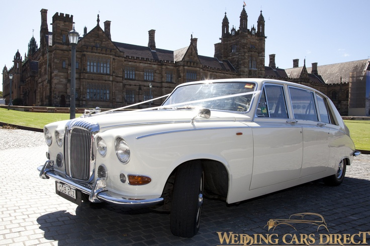 Lucy the 1968 Daimler DS420 Wedding Limo looking lovely at Sydney University.