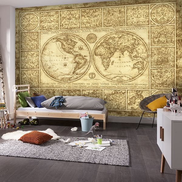 Mappa Orvis Typus Universalis per decorare una parete #mappa #politica #adesivi #murali #vinile #deco #decorazione #muro #StickersMurali