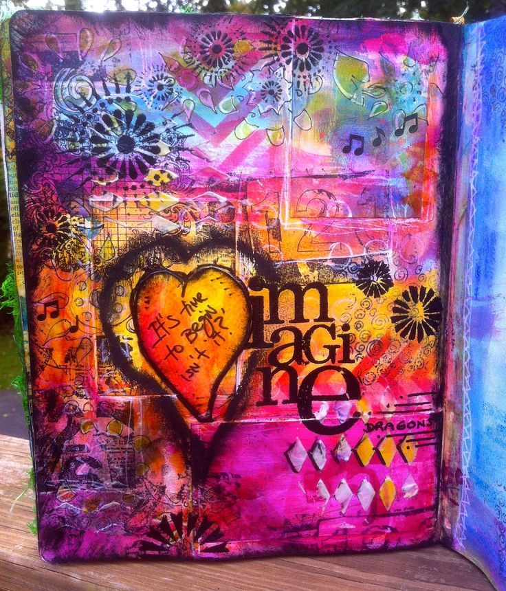 http://www.marjiekemper.com/art-journaling/...numerous finished works for background ideas