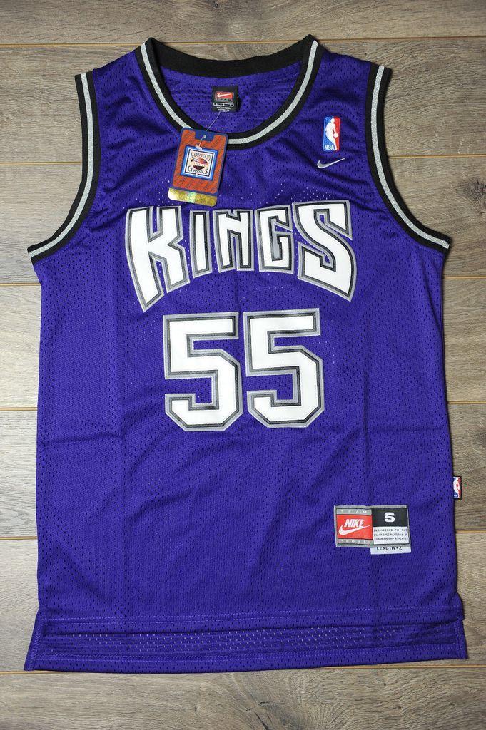 Men 55 Jason Williams Jersey Blue Sacramento Kings Throwback Swingman 34dc2112a43a7